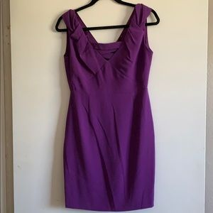 Purple dress with top detail.